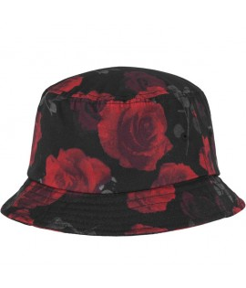 Bob Flexfit Roses Bucket Hat Rouge - Noir