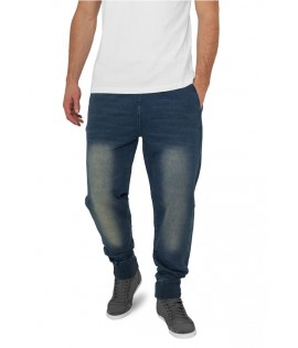 Bas de jogging Urban Classics Spray Dye Molleton Denim