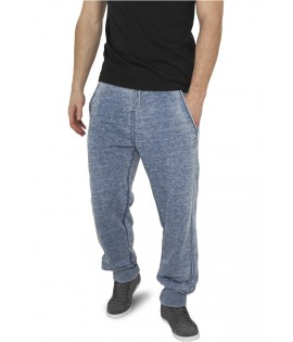 Bas de jogging Urban Classics Burnout Denim Bleu