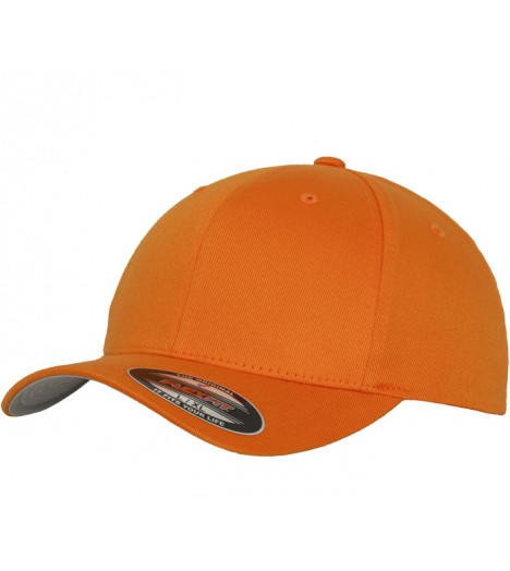 Casquette courbée Flexfit Orange Wooly Combed