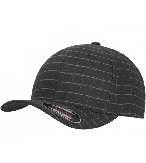 Casquette courbée Flexfit Gris Square Check