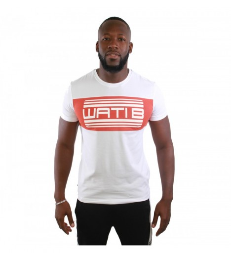 T-shirt Wati B Nigel Orange - Blanc