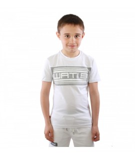 T-shirt Enfant Wati B Nigel Junior Blanc - Gris Chiné