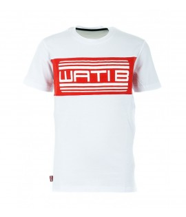 T-shirt Enfant Wati B Nigel Junior Blanc - Rouge