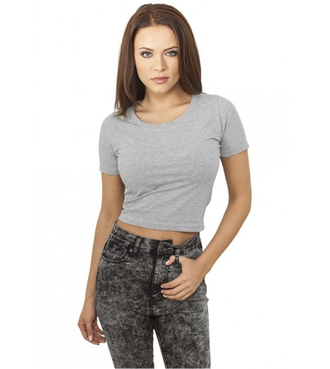 T-shirt Ladies Cropped Urban Classics Gris