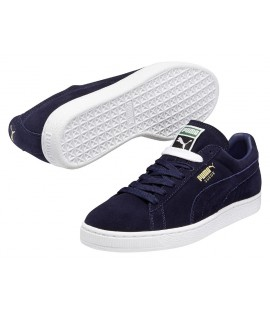 Chaussures Puma Suede Bleu Marine Peacoat Classic Basket
