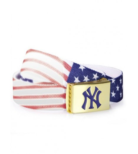 Ceinture NEW YORK MLB Bleu Blanc Rouge Flag MASTERDIS Belt