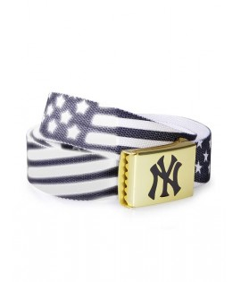 Ceinture NEW YORK MLB Noir Blanc Flag MASTERDIS Belt