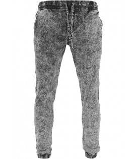 Pantalon Jogger Urban Classics Noir Délavé Stretch Denim
