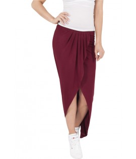 Jupe Longue Urban Classics Bordeaux Stretch