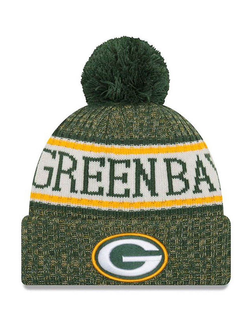 Bonnet pompon Green Bay Packers  SPORT KNIT