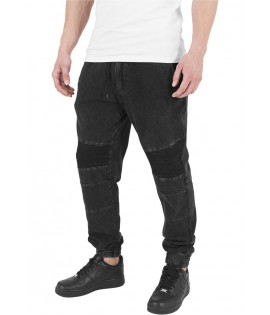 Pantalon Biker Urban Classics Noir Acid Stretch