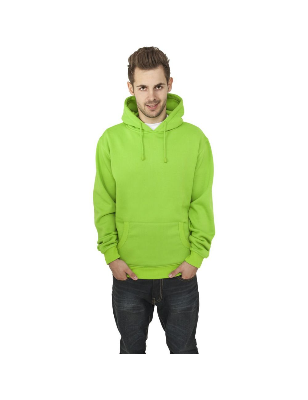 Sweat capuche molleton coupe regular