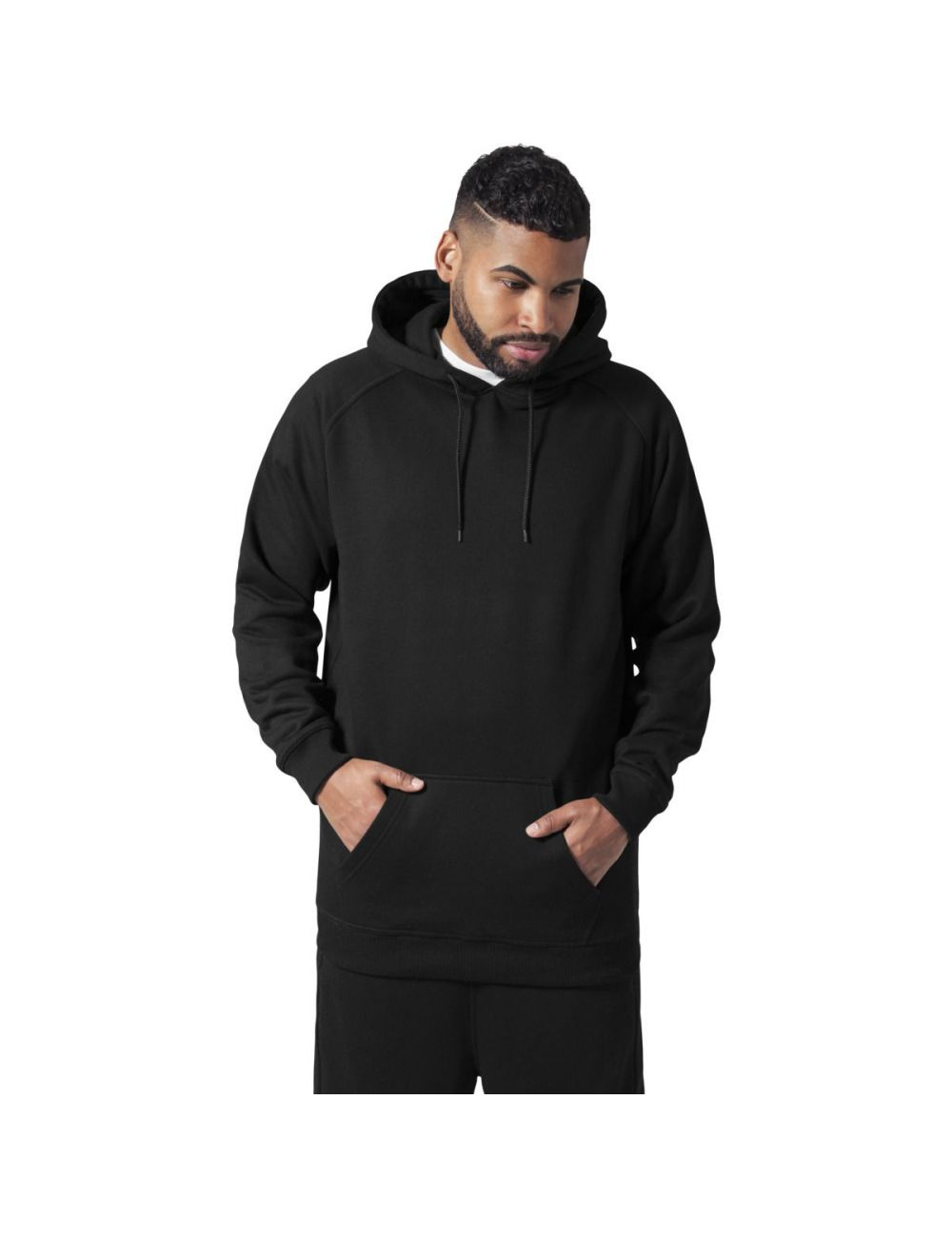 Sweat capuche coupe longue
