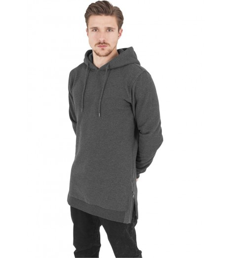 Sweat Long Urban Classics Gris Foncé Side Zip