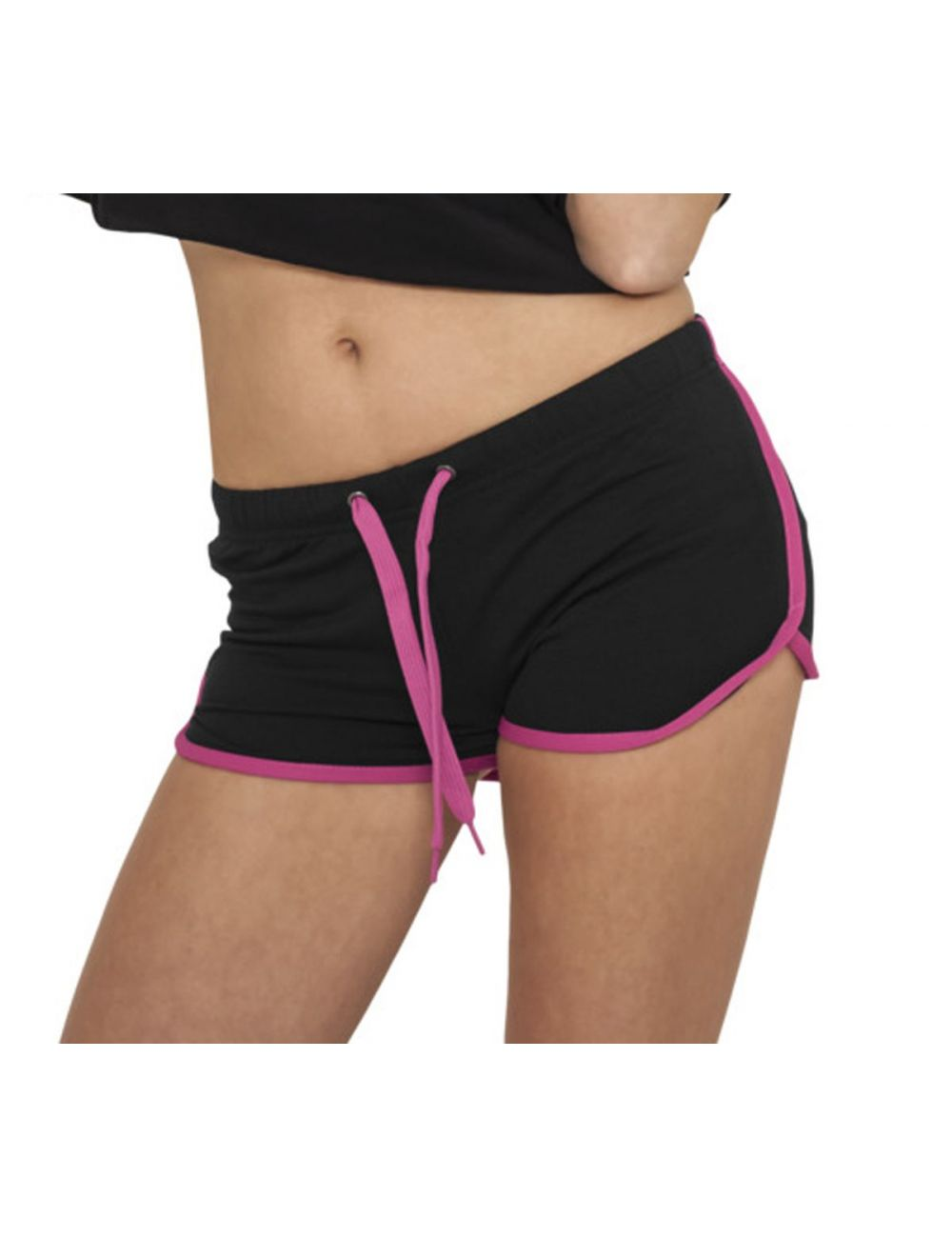 Mini short Urban Classics Noir Rose Fuchsia French Terry Hotpant