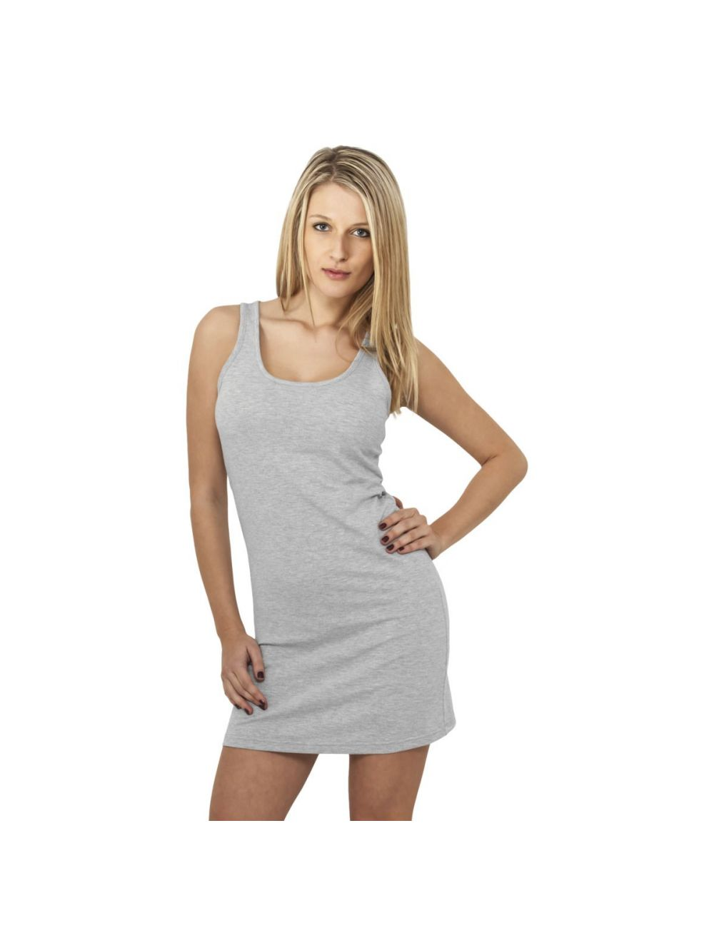 Robe stretch sans manche