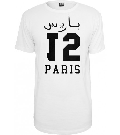 T-shirt Long Mister Tee Paris 15 Oversize Blanc