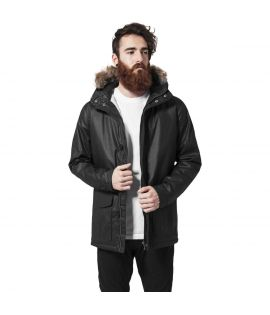Parka capuche fourrure synthetique