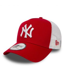 Casquette à filet New Era NY Yankees Clean Trucker Bleu Royal
