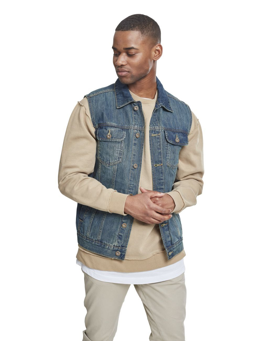 Veste denim sans manches