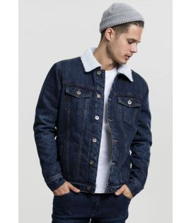 Veste denim sherpa