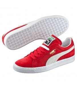 Chaussures Puma Suede Rouge - Blanc Classic Basket