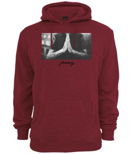 Sweat Capuche Mister Tee Pray Hoody Bordeaux