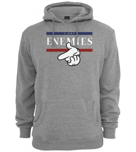 Sweat Capuche Mister Tee I Got Enemies Hoody Gris