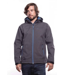 Veste MZGZ Immersion X-Land Gris Zip Thermique Bleu