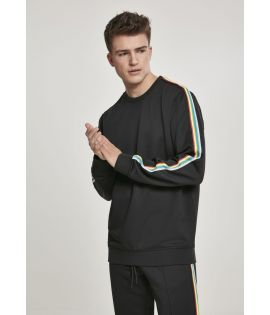 Sweat oversize avec bande multicolore
