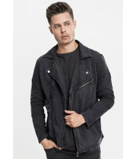 Veste acid wash Biker