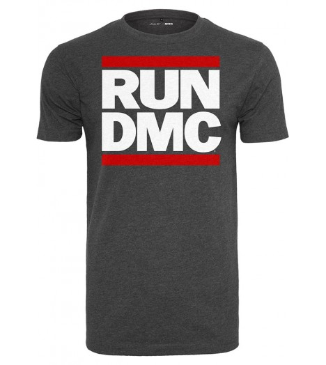 T-shirt Collector  Run Dmc x Mister Tee Logo Gris Foncé