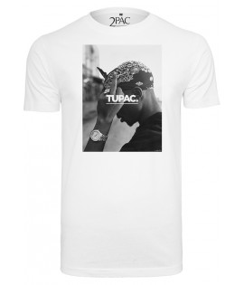 T-shirt 2Pac x Mister Tee Fuck The World Blanc