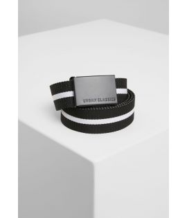 Canvas Belts black white stripe/black one size