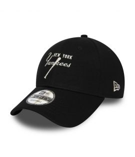 Casquette New Era 9FORTY New York Yankees Script noire 12285355