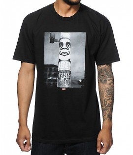 Tee-Shirt Obey Poster Pole Photo Noir