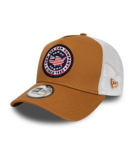 Casquette New Era Trucker Patch USA brune 12380933