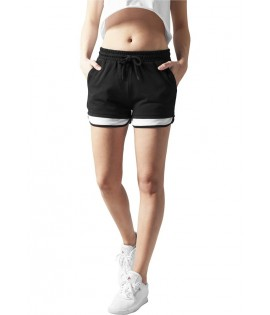 Mini-short Urban Classics Noir Terry Mesh Hotpant