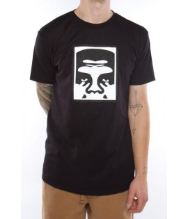 T-Shirt Obey Half Face Icon Noir