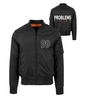 Bomber 99 Problems Mister Tee Nylon Noir