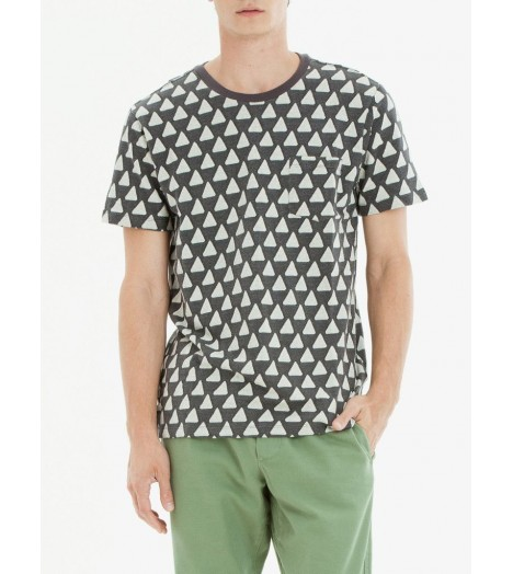 Pocket T-Shirt Obey Gainey Triangle Gris