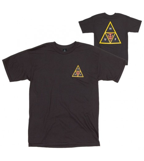 T-shirt Obey x HUF Icon Face Tee Noir