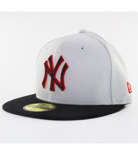 Casquette New Era 59Fifty New York Yankees Diamond Suede Gris