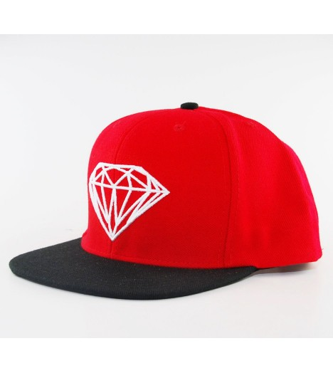 Casquette Diamond Supply Snapback Rock Logo Rouge
