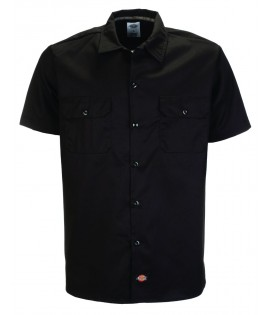 Chemise Dickies Noir Slim Manches Courtes WS576