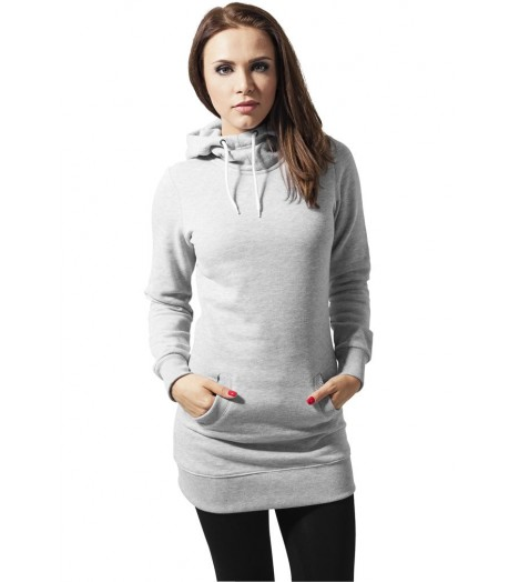 Sweat Long A Capuche URBAN CLASSICS Ladies Gris