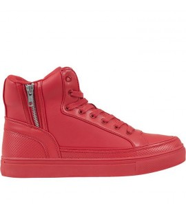 Chaussures Montantes Urban Classics High Top Zip Rouge