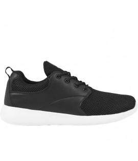 Baskets Urban Classics Femme Light Runner Noir Blanc