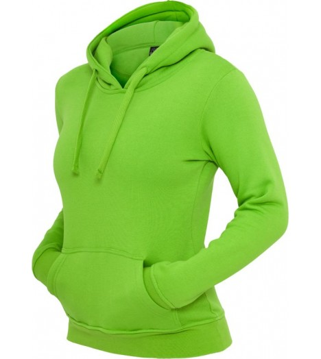 Sweat à capuche URBAN CLASSICS Vert lime Basic molletonné
